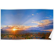Sunset Over the Salt Lake Valley Poster