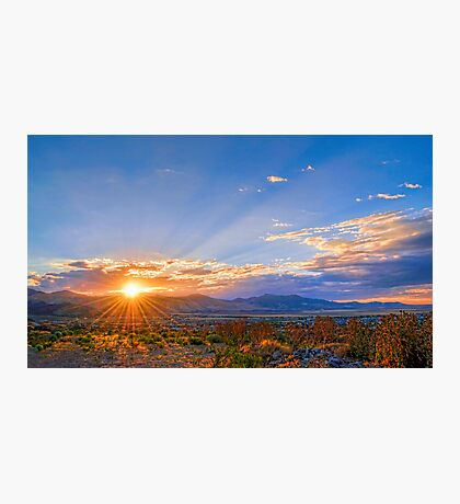 Sunset Over the Salt Lake Valley Photographic Print