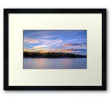 Dusk Over Smith Mountain Lake Framed Print