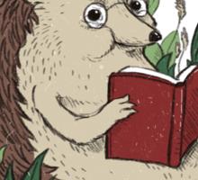 Hedgehog Reading A Book Sticker