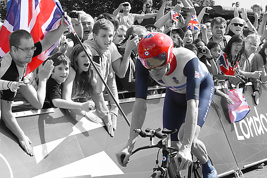 Sir Bradley Wiggins - Gold in Mens Individual Time Trial - London 2012 - SC by Colin J Williams Photography