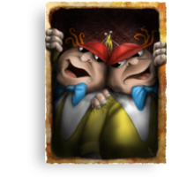 tweedle dum and dumber Canvas Print