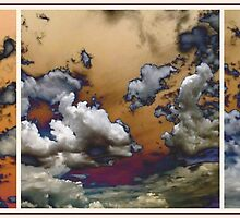 Cloud Abstract In Triptych by Glenn McCarthy