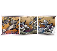 Cloud Abstract In Triptych Poster