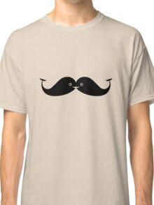 Kawaii Mustache or Cute Whales? Classic T-Shirt