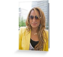 Uzma Yakoob star from the Apprentice TV programme by Canary Wharf Greeting Card