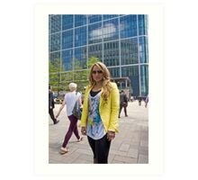 Uzma Yakoob star from the Apprentice TV programme by Canary Wharf Art Print