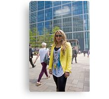Uzma Yakoob star from the Apprentice TV programme by Canary Wharf Metal Print