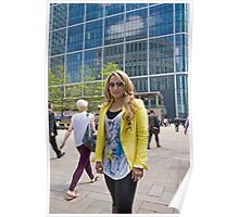 Uzma Yakoob star from the Apprentice TV programme by Canary Wharf Poster