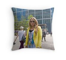 Uzma Yakoob star from the Apprentice TV programme by Canary Wharf Throw Pillow
