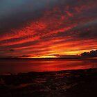Sunset Over Enniscrone Beach. by Maybrick