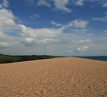 Chesil Beach in Summer by Sara Hasted