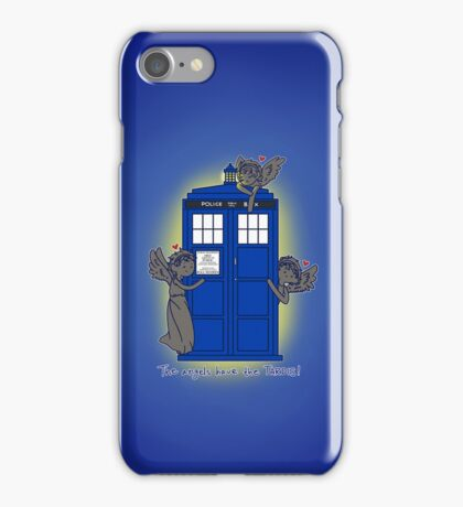 The Angels Have The TARDIS (case) iPhone Case/Skin