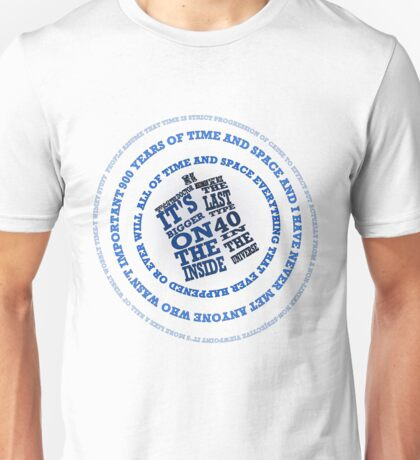 TARDIS in the Time Vortex Unisex T-Shirt