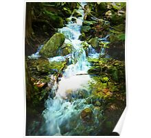 Icicle Gorge Waterfall Poster