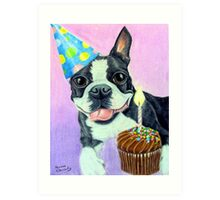 Birthday Boston Art Print