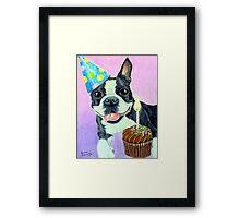 Birthday Boston Framed Print