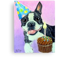 Birthday Boston Canvas Print