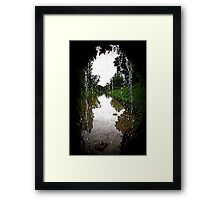from the cave Framed Print
