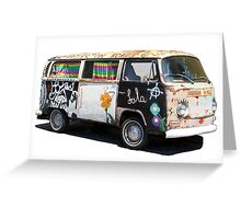 Hippie Van Greeting Card