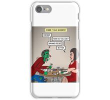 Zombie Table Manners iPhone Case/Skin