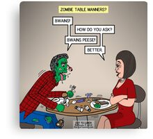 Zombie Table Manners Canvas Print