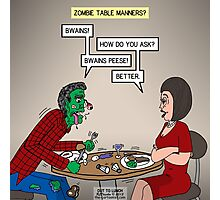 Zombie Table Manners Photographic Print