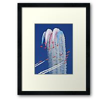 "Red Arrows And ""Eagle Squadron"" Montage -  Duxford 26.05.2013 Framed Print"