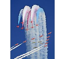 "Red Arrows And ""Eagle Squadron"" Montage -  Duxford 26.05.2013 Photographic Print"