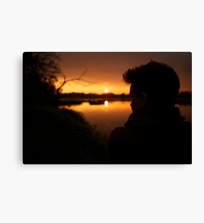 Lorenz, at sunset Canvas Print
