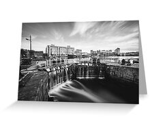 Grand Canal Dock, Dublin, Ireland Greeting Card
