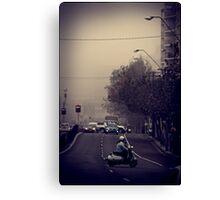 Morning traffic Canvas Print