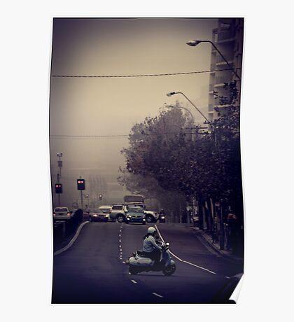 Morning traffic Poster