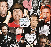 Hugh Laurie Collage by sydneygrullon