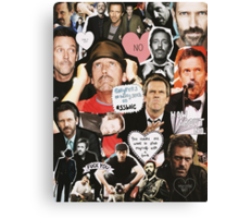 Hugh Laurie Collage Canvas Print