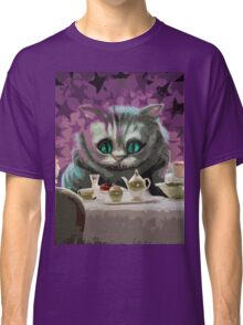 Alice in Wonderland Cheshire Cat Multi-Layer Stencil Vector Classic T-Shirt