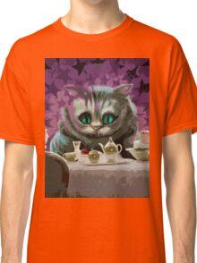 Alice in Wonderland Cheshire Cat Multi-Layer Stencil Vector Classic T-Shirt