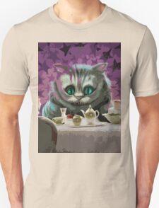 Alice in Wonderland Cheshire Cat Multi-Layer Stencil Vector Unisex T-Shirt