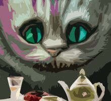 Alice in Wonderland Cheshire Cat Multi-Layer Stencil Vector Sticker