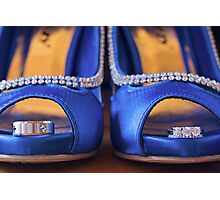 Blue shoes and perfect rings Photographic Print