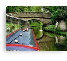 A snake bridge on the Macclesfield Canal, Cherhire, UK......! Canvas Print