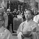 Buddhist Monks by Andrew  Makowiecki