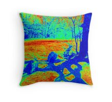 Heat Map Tree Throw Pillow