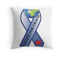 World Ribbon (for Print) Throw Pillow