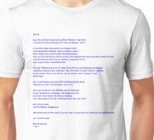 Jodi Letter in Blue Lettering Unisex T-Shirt