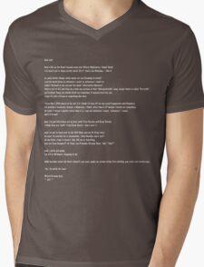 Jodi Letter in White Lettering Mens V-Neck T-Shirt