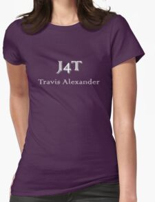 J4T with Name in White Lettering Womens Fitted T-Shirt