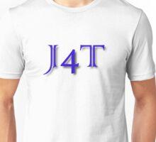 J4T in Blue Lettering Unisex T-Shirt