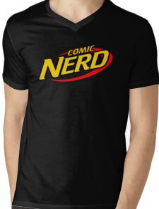 Comic Nerd Mens V-Neck T-Shirt