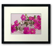Petunias And Perfume  Framed Print